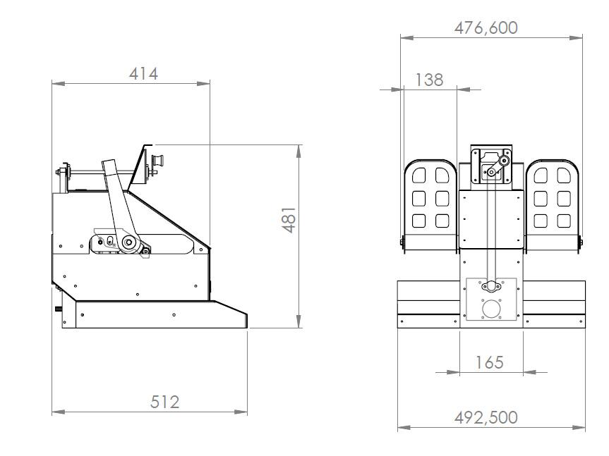Boeing 737 Rudder pedals dimensiones